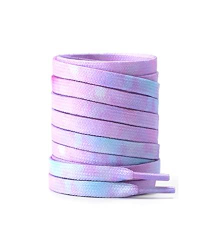 Sjzwt Teñido zapatillas de deporte de los cordones de baloncesto Tide Deportes zapatos planos de la cuerda Zapatillas Cordones, magia púrpura, 140cm