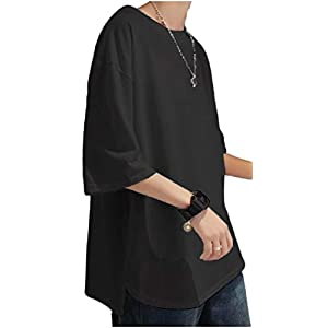 [フローライズ] FL100S tシャツ メンズ ラウンド カット ゆったり カットソー ドロップ ショルダー ビッグ シルエット シンプル ファッション ビジネス 服装 春夏 おしゃれ おおきい 大きめ ネック ストリート スウェット 夏 カジュアル 服 スポーティ スリーブ セット ジャージ お洒落 ワイ 大きい サイズ 春 シャツ Tシャツ 無地 抜け感 ブラック 黒 2XL 半袖