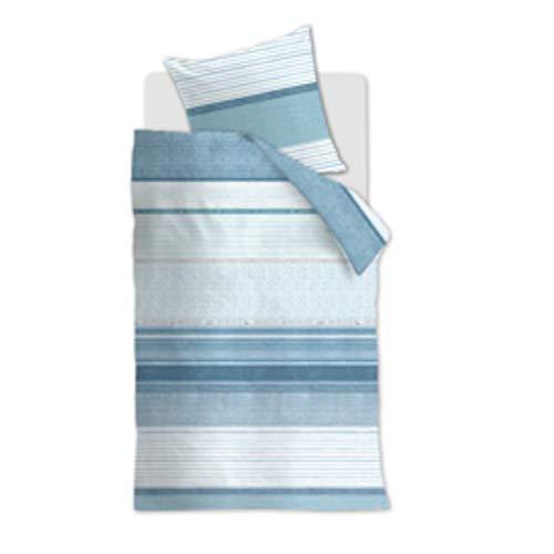 Rivièra Maison Renforcé beddengoed 2-delig dekbedovertrek 155 x 220 cm kussensloop 80 x 80 cm Save The Ocean 196777 blauw