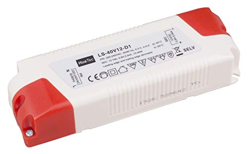 HuaTec LED Trafo 12V Dimmbar 40W für LED Strip LED Netzteil Driver Treiber Transformator