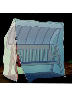 Acamp Hollywoodschaukel Abdeckung 215x155x150 cm   transparent und witterungsfest   optimaler Schutz für Gartenschaukel mit Dach   robustes PE-Bändchengewebe aus Recycling-Material   reißfest und langlebig