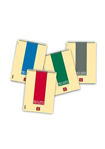 Pigna Styl Blocco Spiralato, 02156285M, Confezione 10 Pezzi, A4