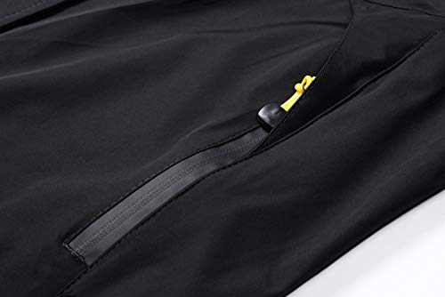 MAGCOMSEN Womens Waterproof Jacket Winter Outdoor Jackets Skiing Snow Jacket for Women Warm Rainproof Jacket with Multi Pockets Coats, M / Tag XL, Black