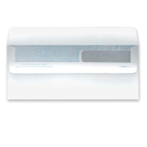 100 Double Window SELF Seal Security Check Envelopes - Compatible with QuickBooks and Other Checks