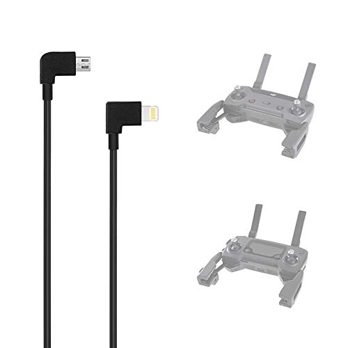 AxPower OTG Micro USB to iPhone IOS Cable 1ft Connector for DJI Spark Mavic Mini Mavic Pro Mavic 2 Pro Zoom Air Reverse Data Cable for iPhone 7 8 X