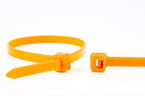 WKK Kabelbinder orange, 140x3,6mm, 100 Stück