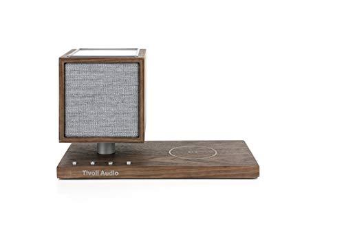 Tivoli Audio 'Revive' - Bluetooth-Lautsprecher mit kabellosem Ladegerät und Lampe (Walnuss/Grau)