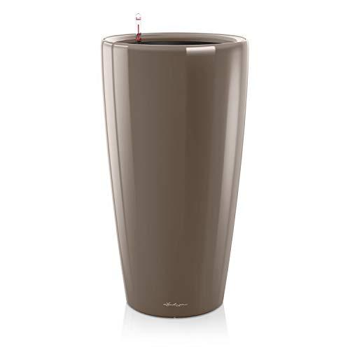 Lechuza Premium Rondo 40 Centimetri Laccato Taupe Auto Watering 75 Centimetri Alto Planter Pot