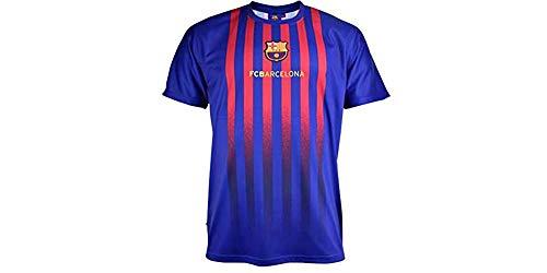 Camiseta Fan 2019 del FC. Barcelona - Producto Oficial Licenciado - Adulto Talla XXL - Medidas Pecho 63 - Largo Total 77 - Largo Manga 23 cm.