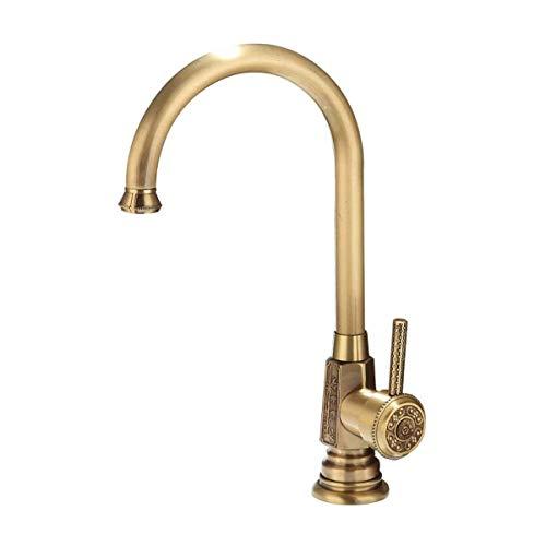 Bacino rubinetto della cucina moderna rubinetto lavandino rubinetto All-in rame placcatura senza piombo cromato antiruggine resistere alla corrosione calda e fredda a 360 gradi di rotazione zhuang94