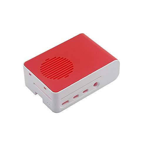 KEYESTUDIO Case for Raspberry Pi 4, Raspbery Pi 4 Case for Raspberry 4 Kit Red/White Box