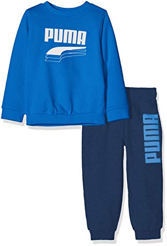 PUMA Kinder Minicats Rebel Crew Jogger Trainingsanzug, Palace Blue, 104