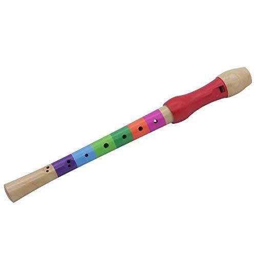KEHUITONG QDGXL 8-Loch Flöte Klarinette Piccolo Trompete Trompete Spielzeug Holz Frühkindliche Bildung Spielzeug Musikerziehung Musikinstrument (Color : Multi)