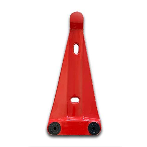 Wandhalterung Halter rot pulverbeschichtet mit 2 Gummiauflagen für Feuerlöscher Schaum Wasser Pulver Fettbrand CO2 , 2 / 3 / 4 / 5 / 6 / 9 / 12 kg L Gerät