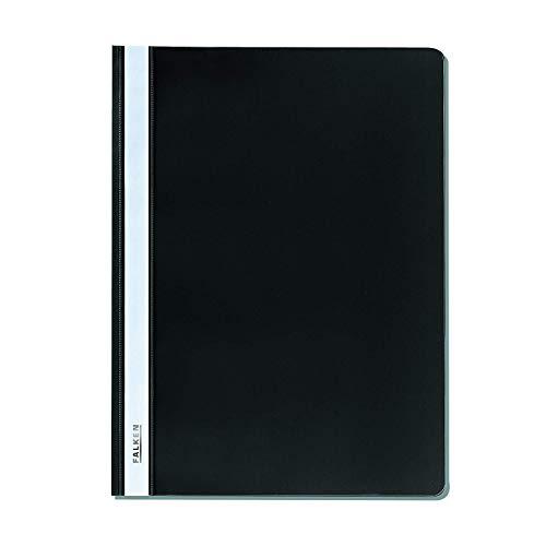 Oryginalny plastikowy skoroszyt Falken Z folii PP do DIN A4 komercyjny zeszyt, czarny, idealny do biura i szkoły