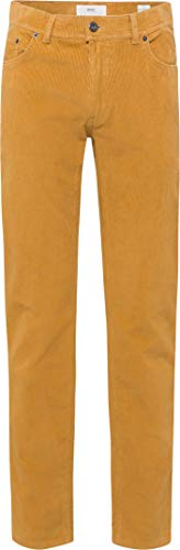 BRAX Herren Style Cooper Fancy Cord Hose, Curry, 44W / 36L