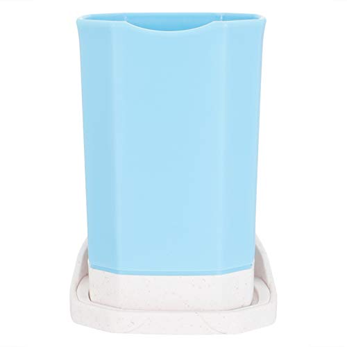 Cabilock Portaspazzolino da parete magnetico salvaspazio porta spazzolino da denti per la casa del bagno 1 set blu