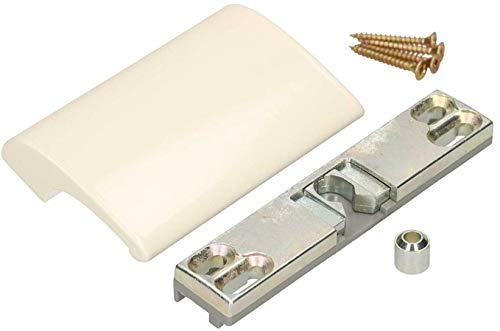 KOTARBAU Tirador para puerta de balcón de aluminio blanco 9001, tirador de...