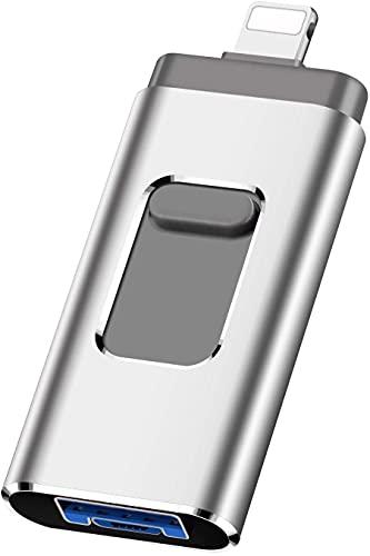 Great Performance - Memoria USB Flash 3.0 (128 GB, memoria externa, memoria flash de memoria flash USB para iOS, Android y ordenador de sobremesa (128 GB)