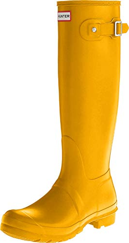 Hunter Wellington Boots, Botines para Mujer, Amarillo (Yellow/ryl), 39 EU