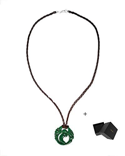 Mesky Cosplay Accessoire Collier Pendentif Vert Lara Croft 80 Gramme Zinc Alliage Sauvage Trésor Collier Femme Games Jeux Boheme Bijoux Pas Cher Femme Homme