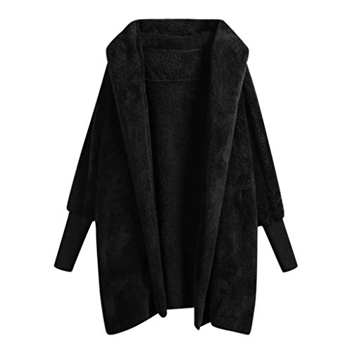 Plot Winterjacke Damen Parka Jacken Fleecejacke Fleecemantel Einfarbig Cardigan Winterparka mit Kapuze Teddy-Fleece Jacken Mantel Frauen Winter Warm Kapuzenjacke Outwear Coat