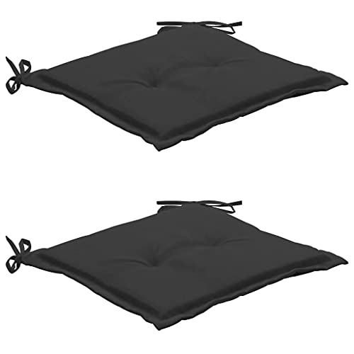 vidaXL 2X Cojines para Sillas Jardín Casa Hogar Sillones Asientos Salón Comedor Terraza Decoración Muebles Mobiliario Gris Antracita 50x50x4 cm