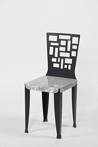 Styl'Métal 21 Lot 2 chaises Lilou D5 métal Noir