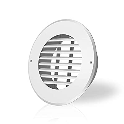 AC Infinity Wall-Mount Duct Grille Vent for 6-Inch Ducting, White Metal, Heating Cooling Ventilation and Exhaust