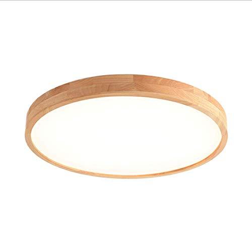 Preisvergleich Produktbild X-DENG LED Runde / Ovale Massivholz Deckenleuchte Nordischen Stil Wohnzimmer Lampe Acryl Lampenschirm Moderne Gartenlampe Outdoor Korridor Küche Bad Balkon Lampe (Log Farbe)