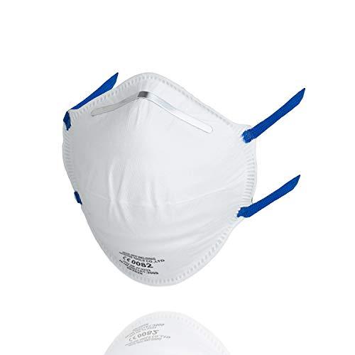 FFP2 Staubmaske CE Zertifiziert [10 Stück] - Atemschutzmaske bei Rauch, Feinstaub und Aerosolen nach DIN EN 149 für Handwerk & Baustelle
