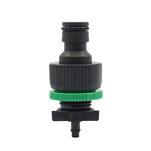 WLDSW El riego por Goteo de riego de Agua del Grifo de Anclaje rápido automático 4/7 Mm Manguera de jardín Conectores de 20 PC (Color : Green, Diameter : 1/4'')