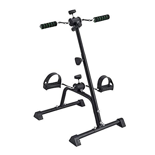 Entrenador de Pies y Manos, Mini bicicleta estática para el hogar, Equipo de entrenamiento de rehabilitación de extremidades superiores e inferiores para hemiplejía/Black / 77x46x40cm