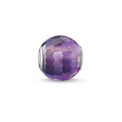 Thomas Sabo Damen-Bead Karma Beads 925 Sterling Silber Amethyst violett lila K0089-163-13