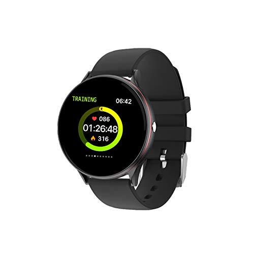 JKC pantalla táctil completa reloj inteligente mujeres multifuncional deporte ritmo cardíaco presión arterial IP67 impermeable smartwatch+caja