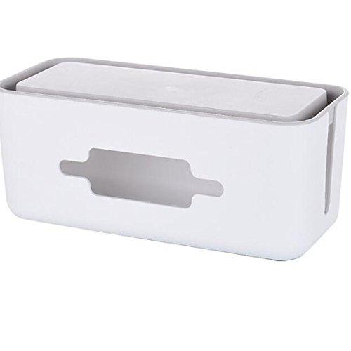 Caja de Almacenaje,Caja Organizadora Cables, HomeYoo Caja de Cables para Almacenaje de...