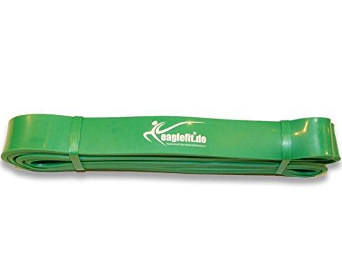 eaglefit Fitness-Band aus Naturlatex, Klimmzug-Hilfe und Krafttraining, grün, 10-35 kg, 20-55 kg