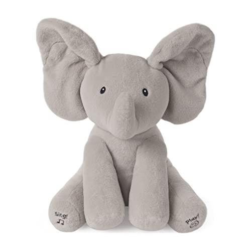 GUND Baby Animated Flappy The Elephant Stuffed Animal Plush, Gray, 12'