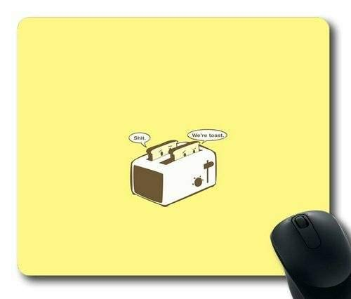 Cartoon Toast auf gelben Gaming Mouse Pad Mousepad Mat