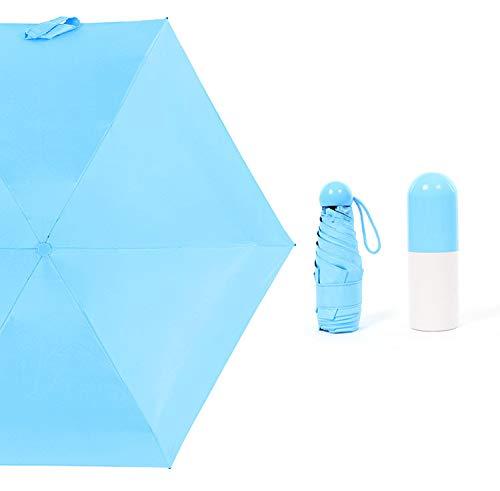 Teabelle Ultra Pequeño y Ligero Anti-UV Paraguas con Mini Travel Creative Cute...