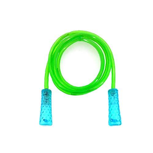 Nicetruc Jump Rope Led Jump Rope Beleuchten Oben Blinkende Farbwechsel Springseil Mit Bequemem Griffe Für Kinder Grün