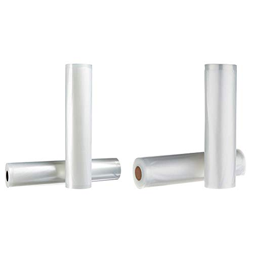 AmazonBasics 28 cm x 500 cm, 2 Rollen für Vakuumierer & 22 cm x 500 cm, 2 Rollen für Vakuumierer