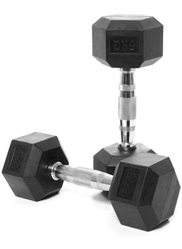 The Restored Hex Dumbbells - 2.5kg, 5kg, 7.5kg or 10kg are Pairs (Set of 2 Weights) | 12.5kg to 30kg Singles