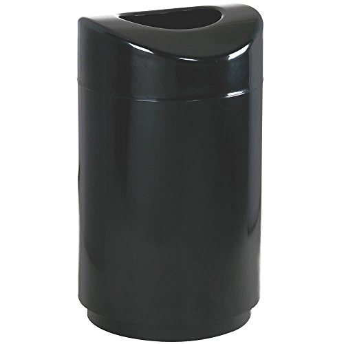 Rubbermaid Commercial Executive Series Eclipse Trash Can, 30 Gallon, Black, FGR2030EPLBK