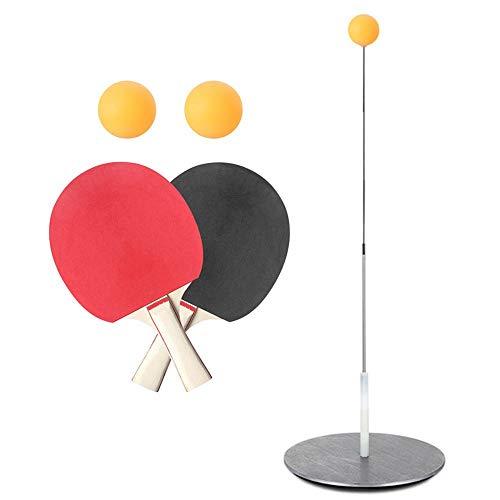 PITCHBLA Entrenador de tenis de mesa con entrenador de tenis de mesa de eje suave y elástico para juegos al aire libre de interior Juego de murciélagos de tenis de mesa para principiantes