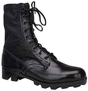 Best mens black leather military boots Reviews