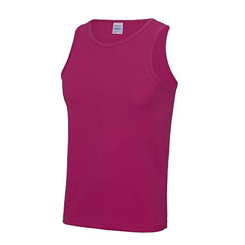 Just Cool Herren Sport Tank Top Gym XXL,Dunkles Pink