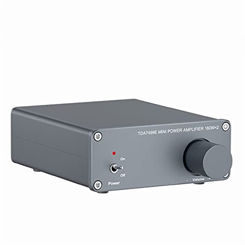 NIZYH Tda7498e 2 Channel Sound Power Amplifier Audio Receiver Mini HiFi Amp Home Theater Speakers 160w X 2 Amplificador