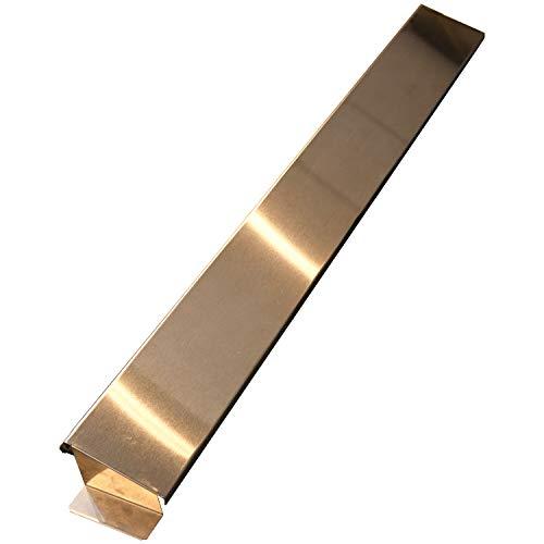 ビーワーススタイルコンロ奥カバーシルバー64.5×7.3×4cmステンレス製排気口カバー170002