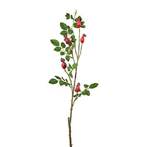 wohnfuehlidee Kunstpflanze Hagebuttenzweig, 3er Set, Höhe ca. 79 cm